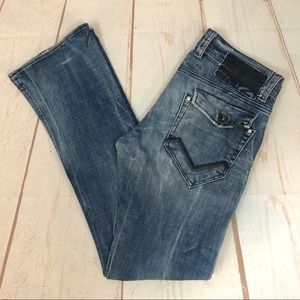 Men's Energie Jeans Faded Distressed Wash